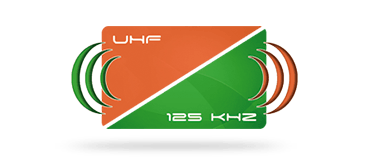 Picture of a 125 kHz + UFH hybrid card for secure migration