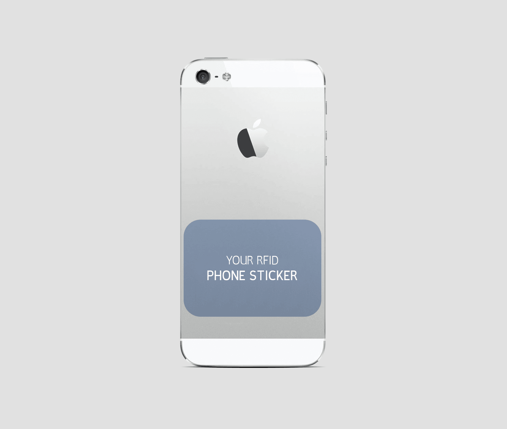 Picture of a phone sticker printing credential solution for customization