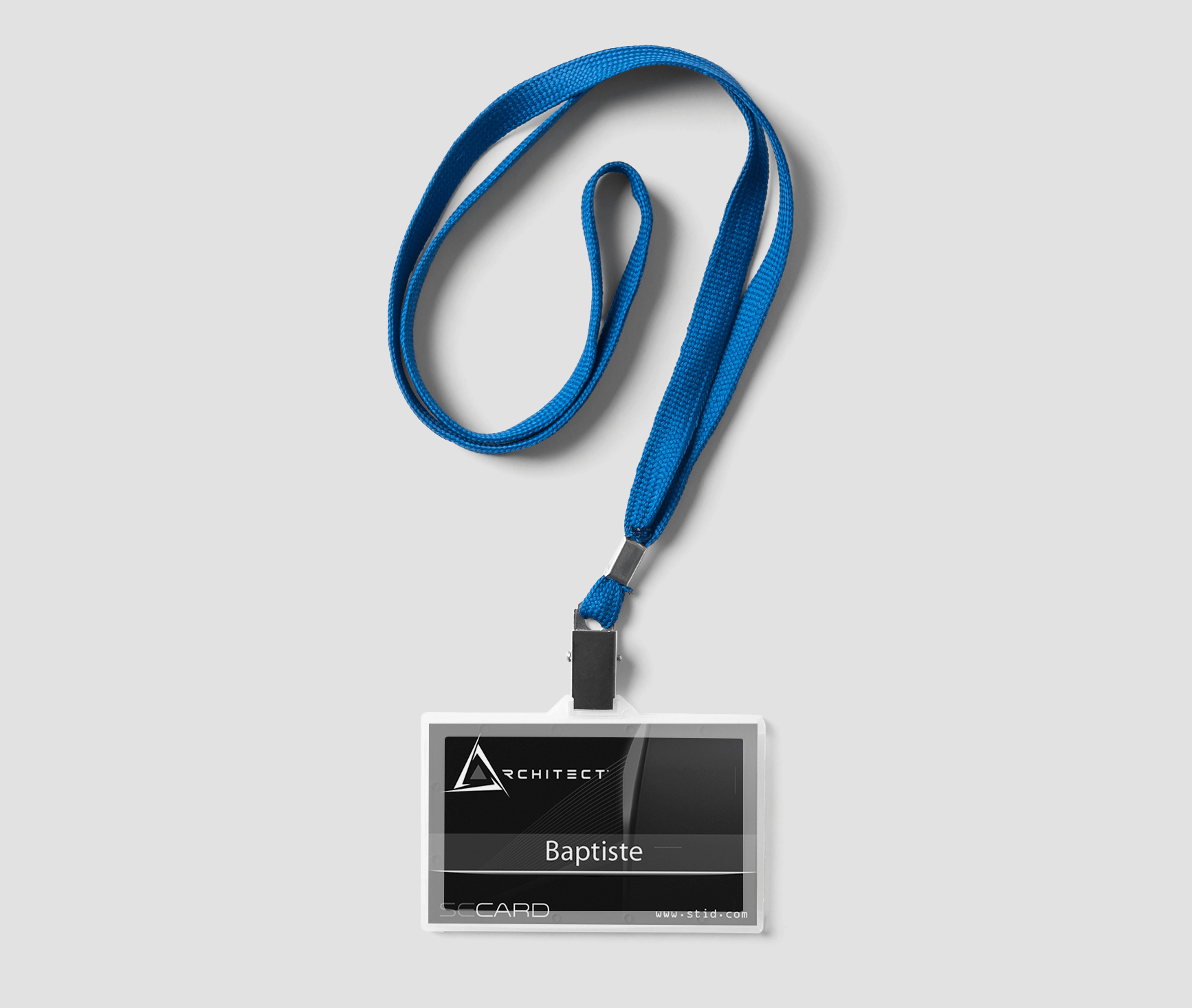 Picture of a greyscale printing credential solution for customization