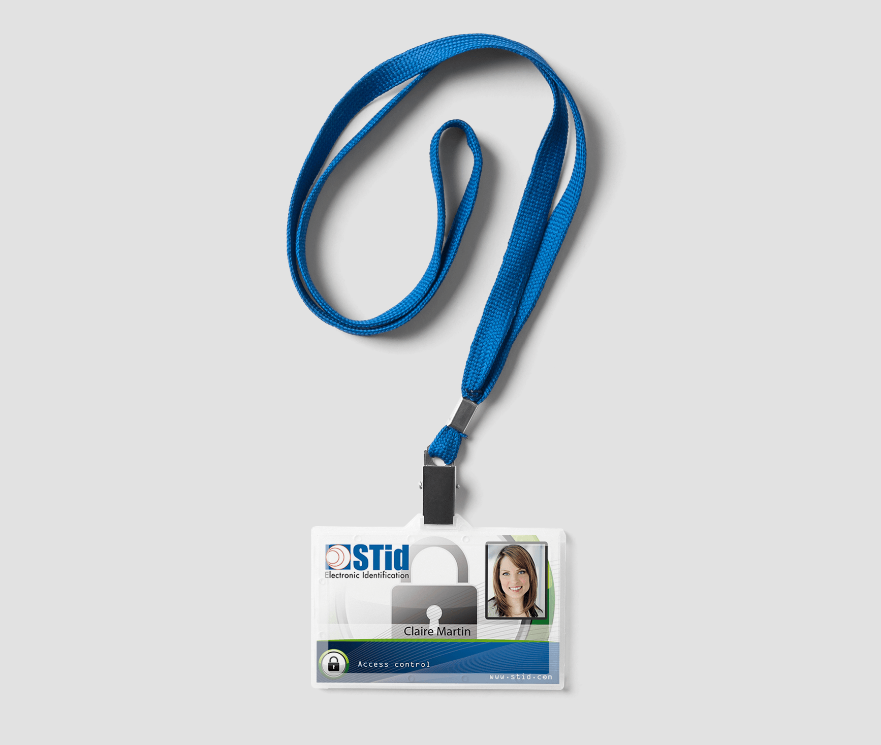 Picture of a four-color printing credential solution for customization